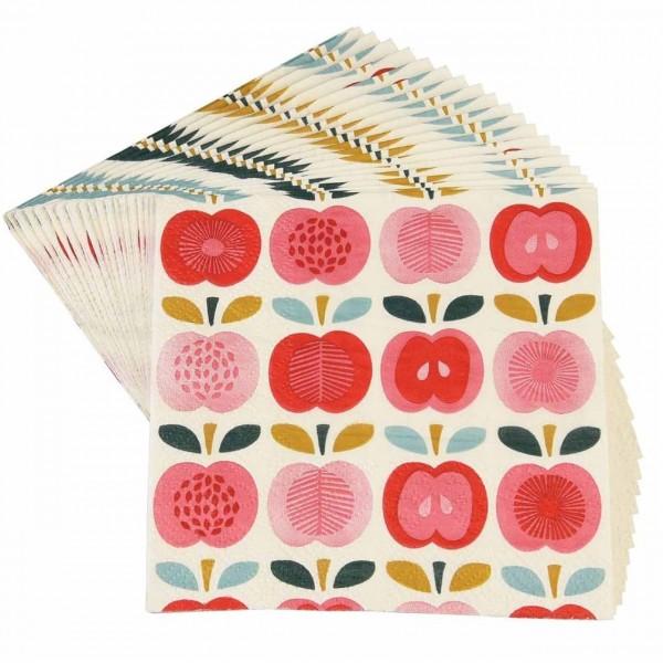 Papierservietten Vintage Apple