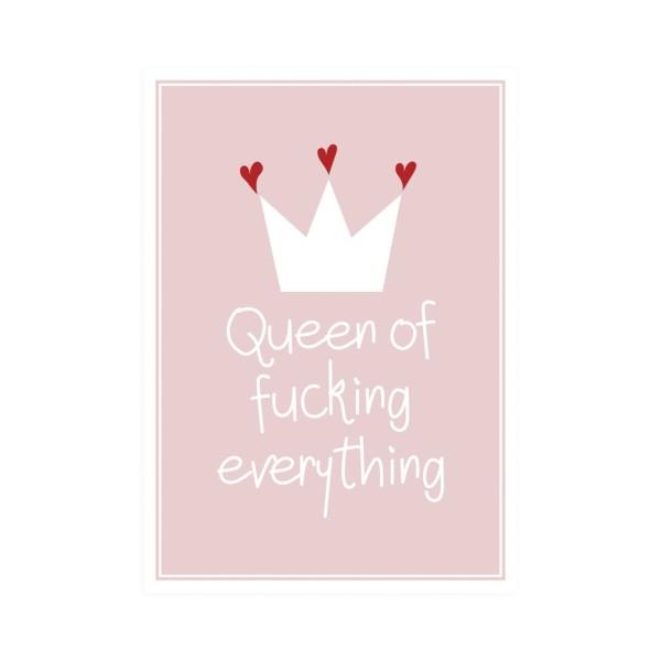 Postkarte hoch Queen of