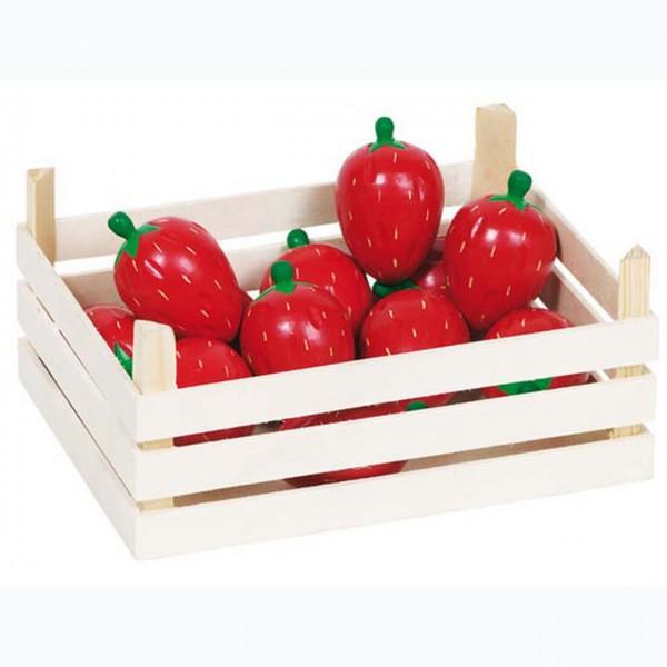 Holz Erdbeeren