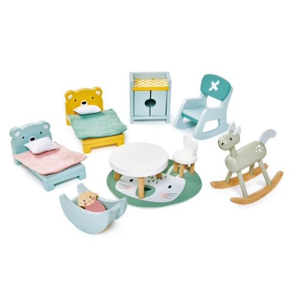 Puppenhaus Kinderzimmer Set