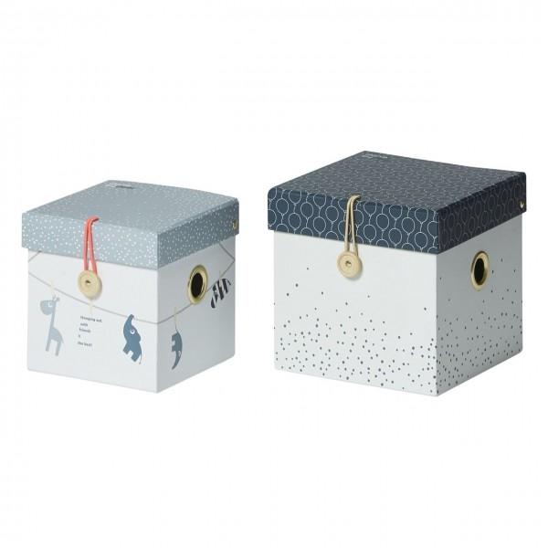 Aufbewahrung Boxen-Set blau