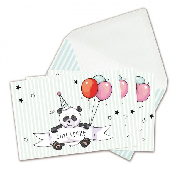 Einladungskarten Panda