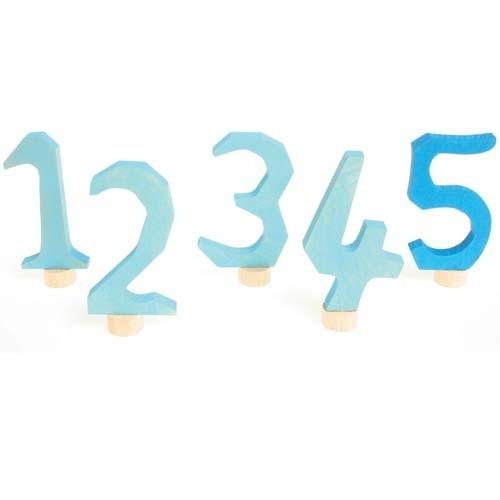 Zahlenstecker blau 1-5