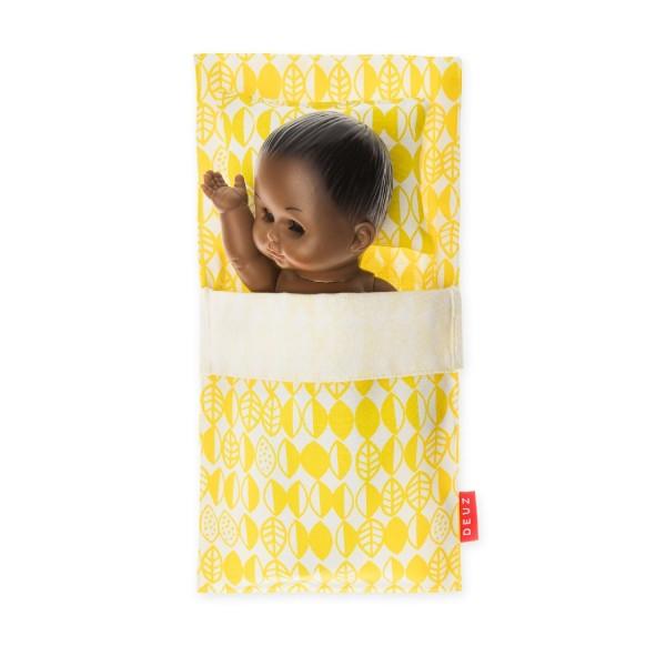 Puppen Schlafsack gelb
