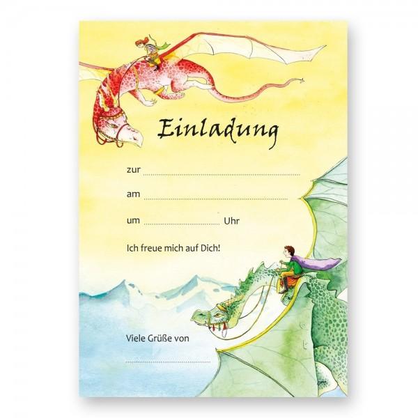Einladungskarten Drachen