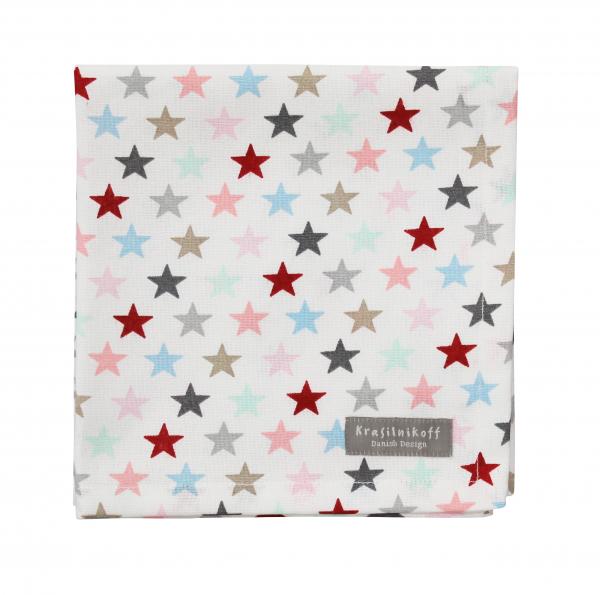 Krasilnikoff Serviette kleiner Stern multi weiß