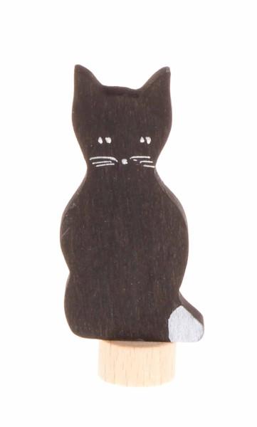Steckfigur Katze schwarz