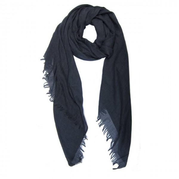 M&K Collection Schal Cotton/Wool Dark Denim