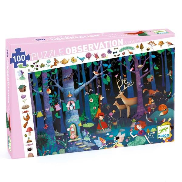 Puzzle Wimmelbild Zauberwald 100 Teile