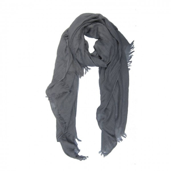 M&K Collection Schal Cotton/Wool Grey