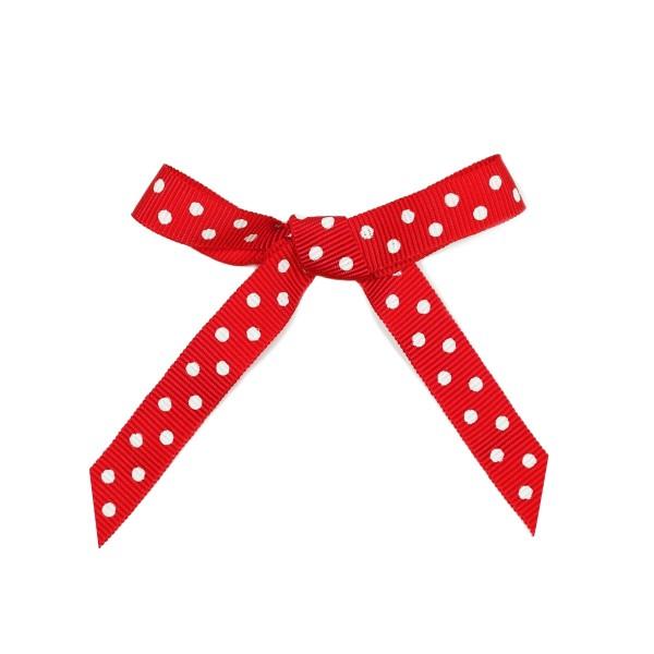 Schleifenband Punkte rot