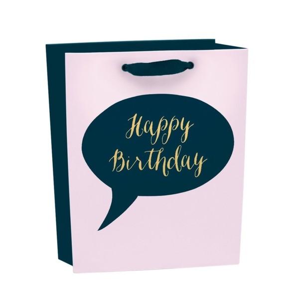Geschenktüte Urban Happy Birthday klein