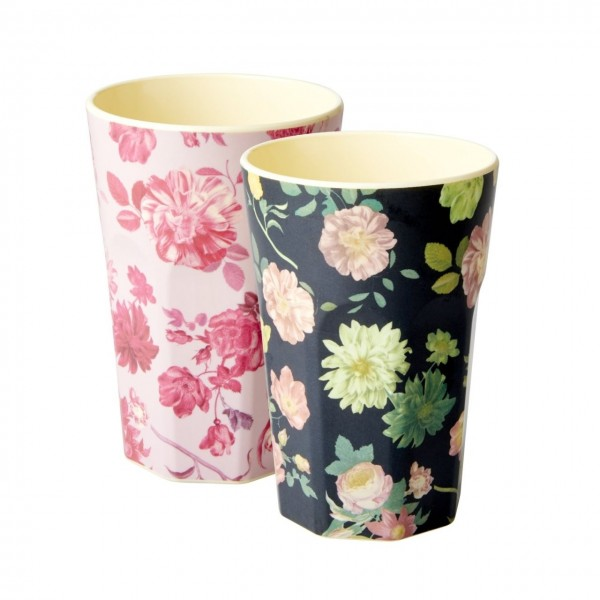 Melamin Latte Becher 2er Set Rose