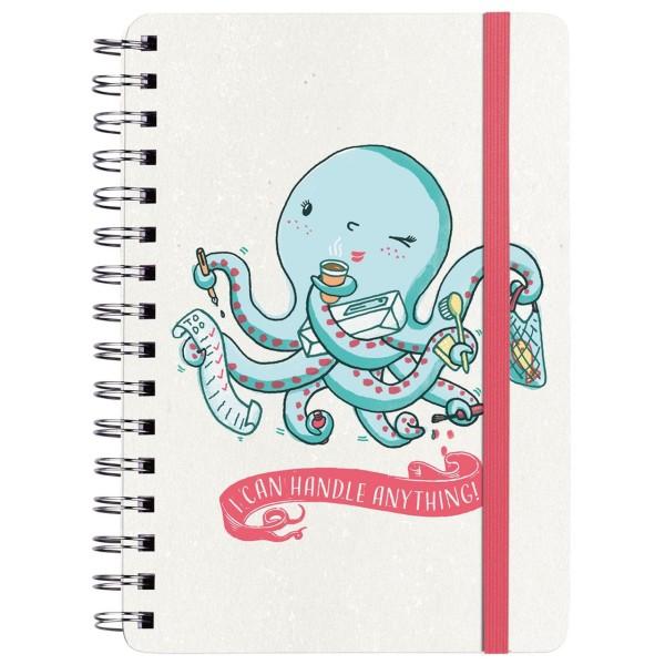 Happy me Notizbuch Octopus A5
