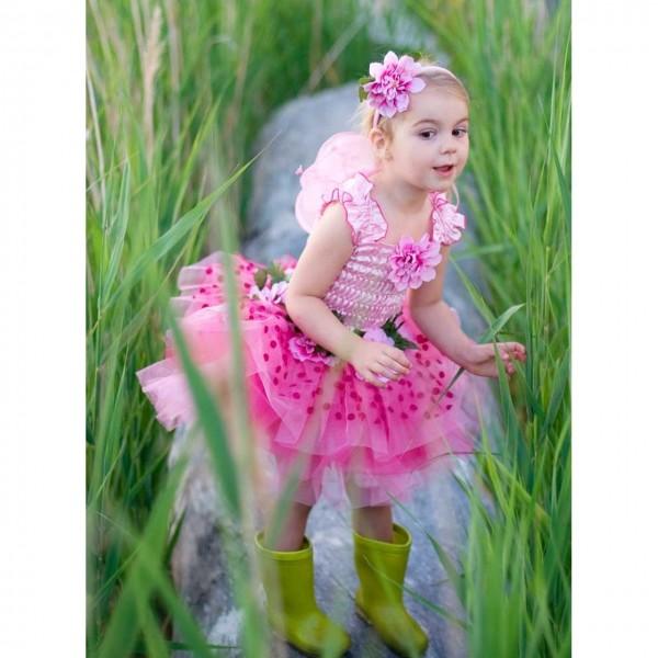 Feenkleid rosa mit Flügeln M