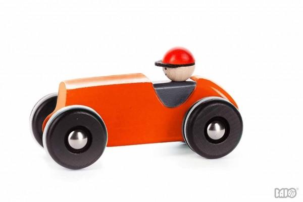 Retro Holzauto rot