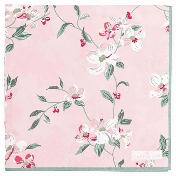 Papierserviette Jolie klein rosa