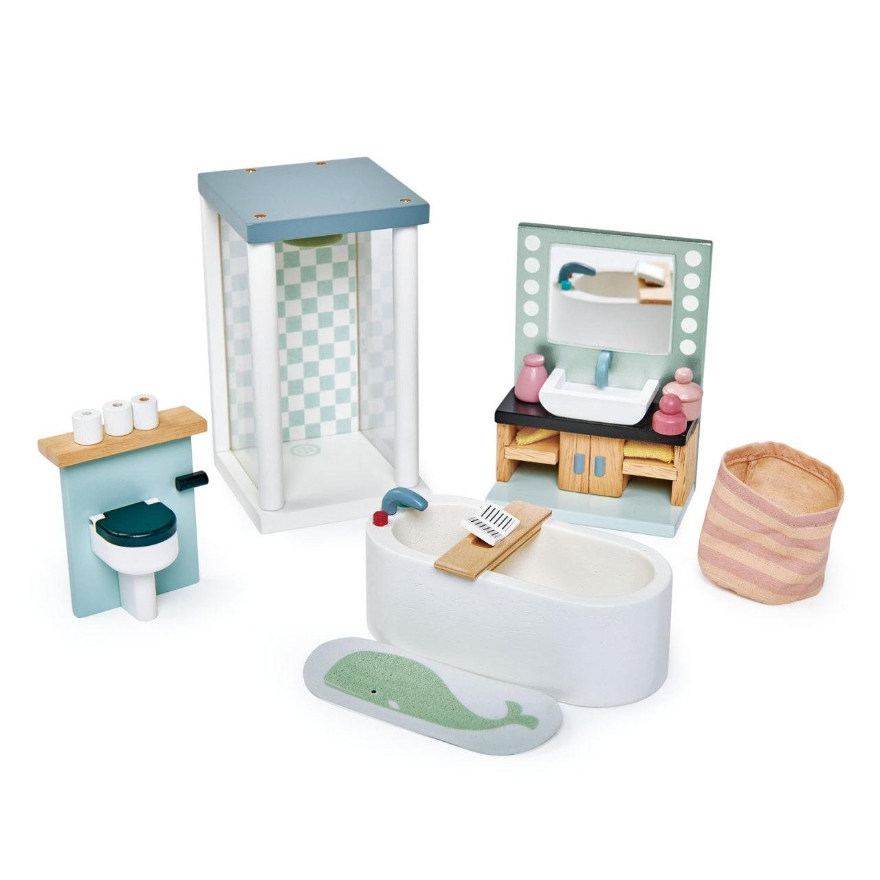 Puppenhaus Badezimmer Set