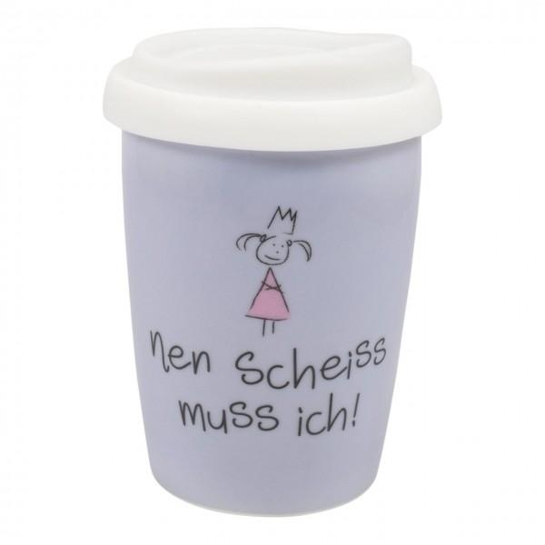 Coffee to go Becher nen Scheiss...