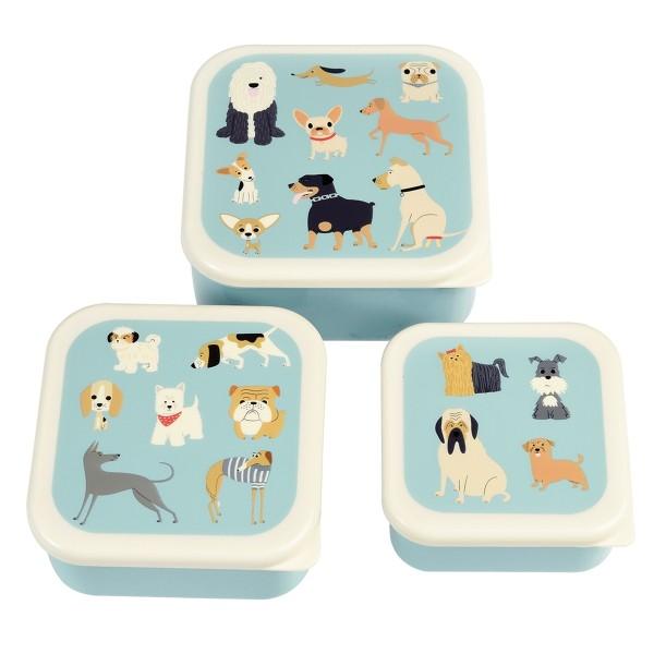 Brotdose 3er Set Hunde
