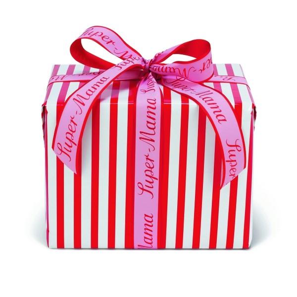 Geschenkpapier Gestreift rot