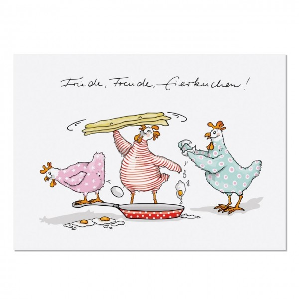 Postkarte Friede Freude Eierkuchen