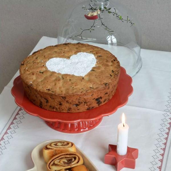 Tortenplatte rot