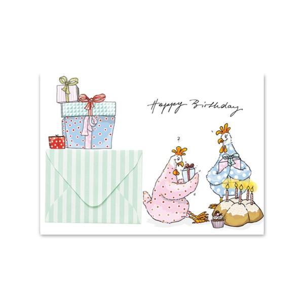 Briefchenkarte Geschenkehuhn