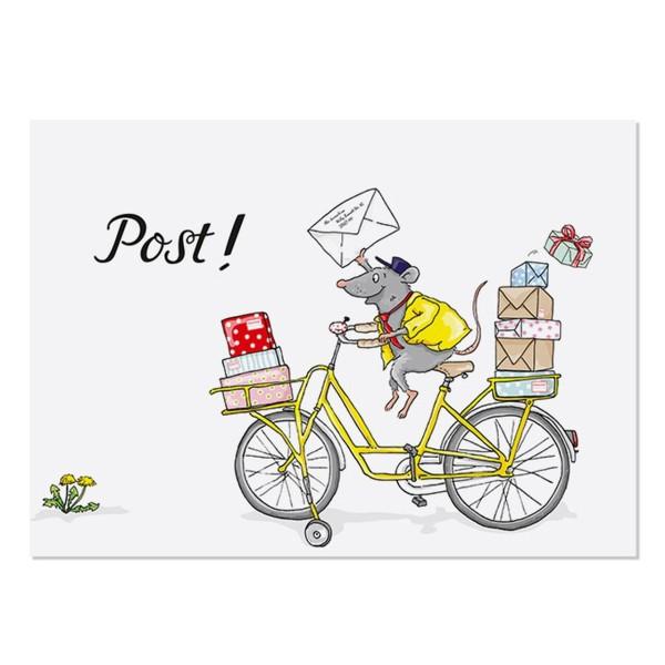 Postkarte Postmaus
