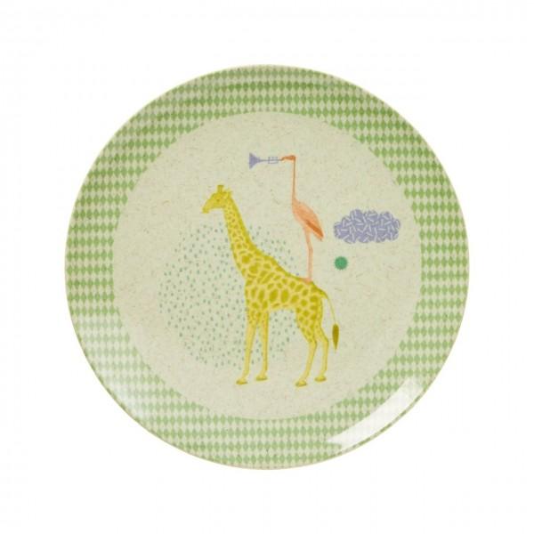 Kinder Bambus Melamin Teller Boys Animal Print