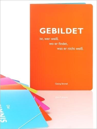 """CEDON Sammelmappe, orange, Simmel """"Gebildet"""""""