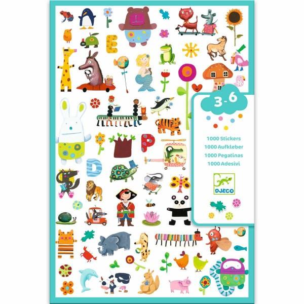1000 Sticker Sammlung