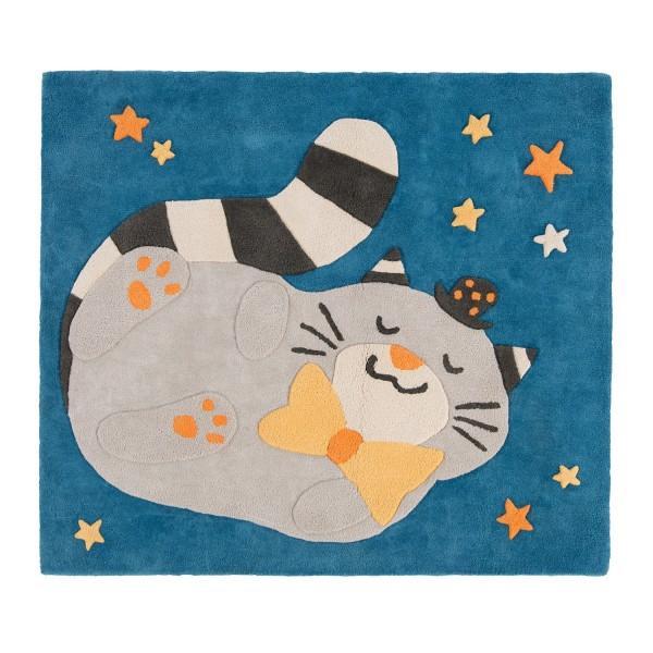 Baumwollteppich Katze