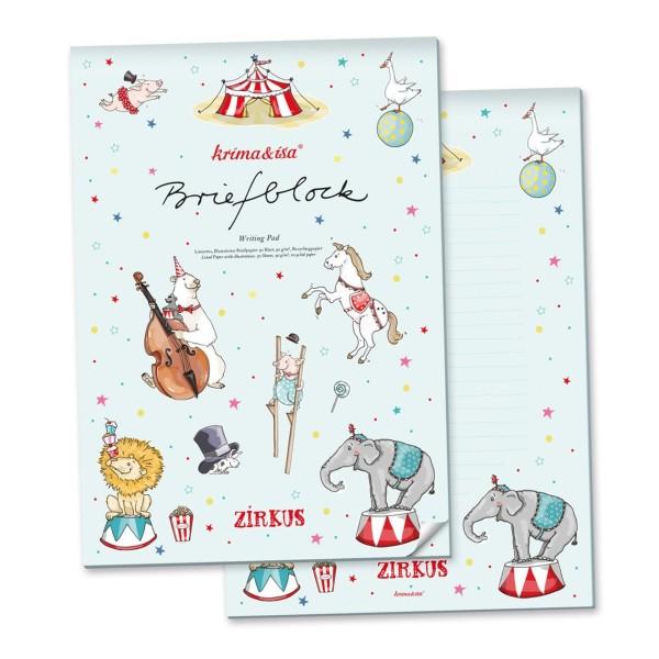 Briefblock Zirkus A4
