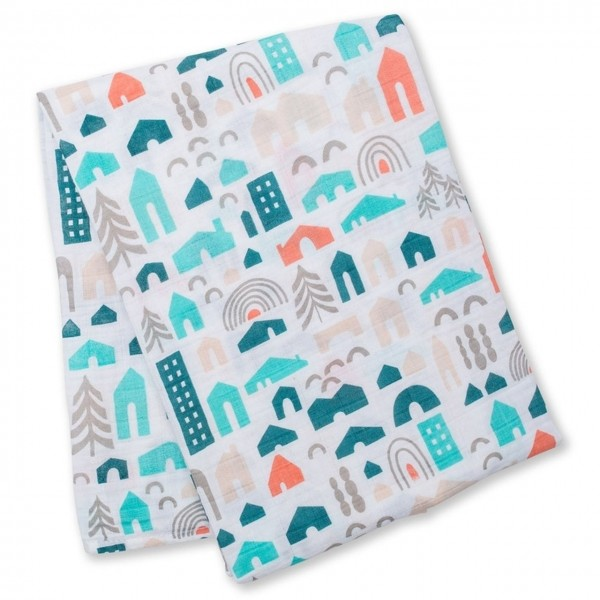 Muslin Swaddle Mulltuch - Neighbourhood