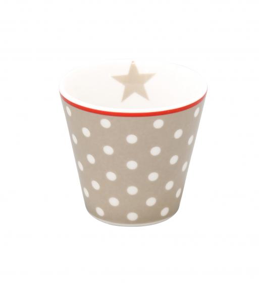 Espresso Tasse gepunktet taupe