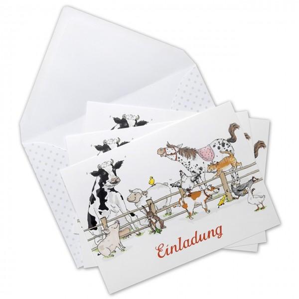 Einladungskarten Bauernhof