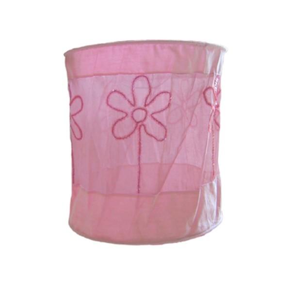Lampenschirm Blumenband rosa