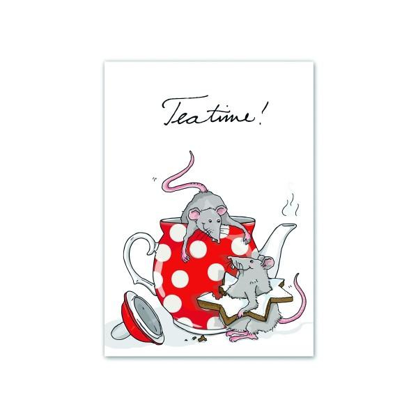 KRIMA Postkarte Tea Time