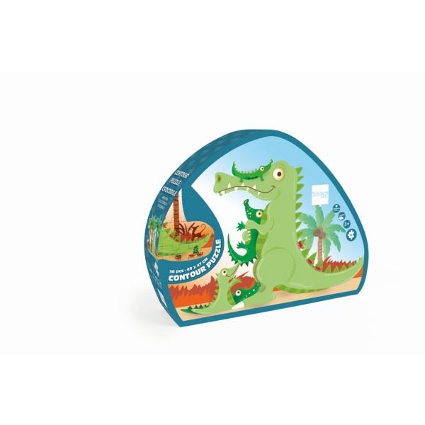 Puzzle Krokodil 36 Teile