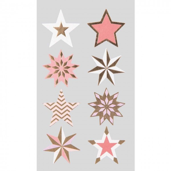 Sticker Sterne rot/gold