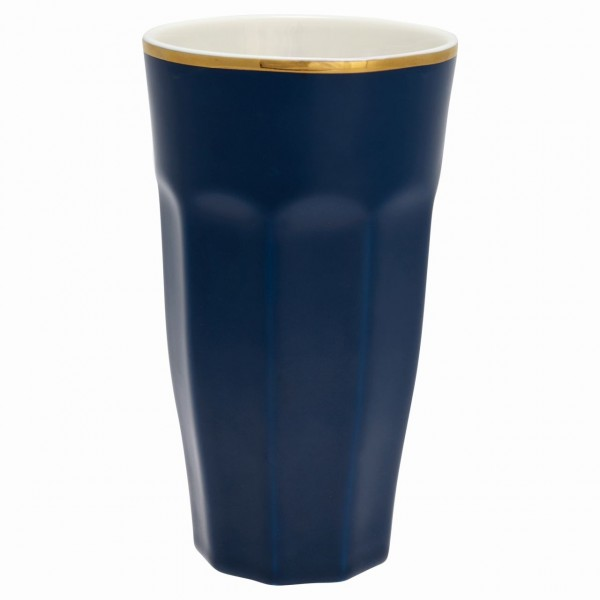 French Latte Cup dark blue
