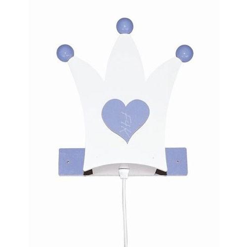 Kinderlampe Krone hellblau