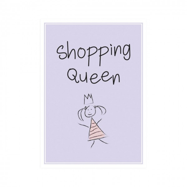 Postkarte hoch Shopping Queen