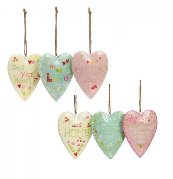 Colourful Hearts mit Spruch Englisch