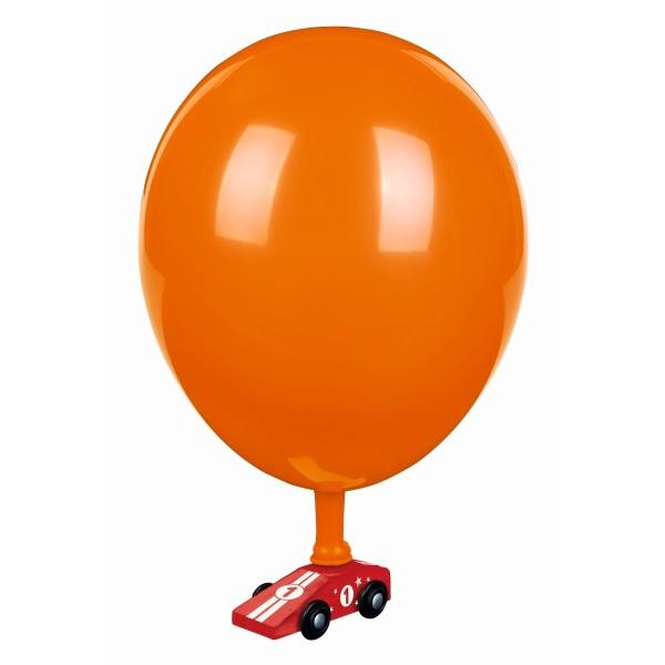 PhänoMINT Luftballon-Auto rot