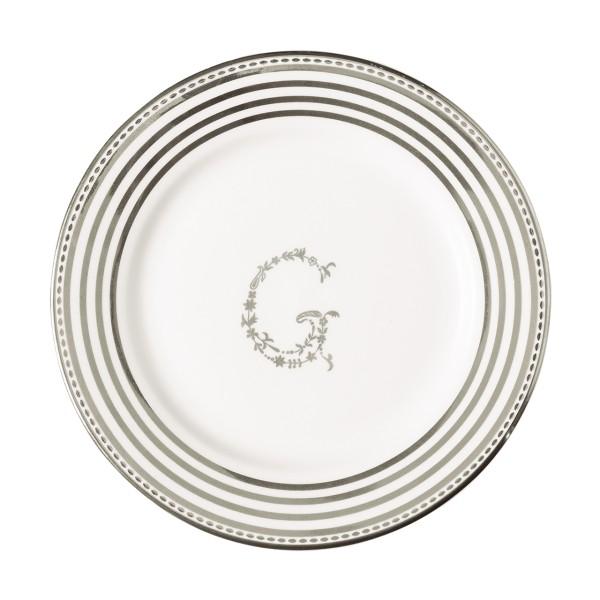 Dessertteller G silver