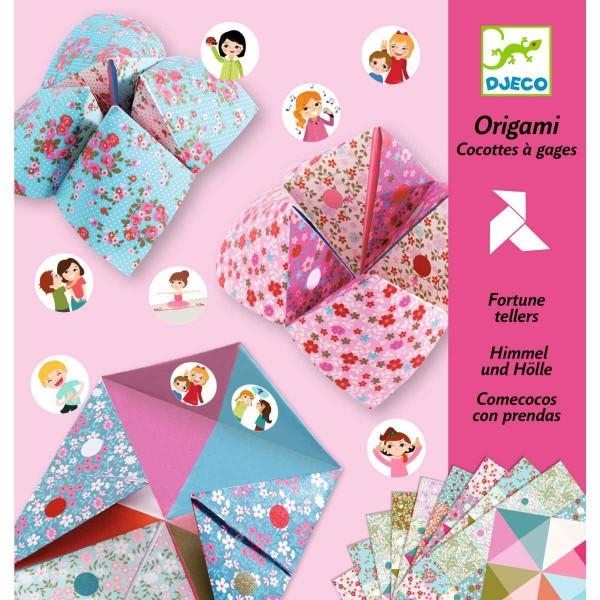 Origami Himmel und Hölle Blumen