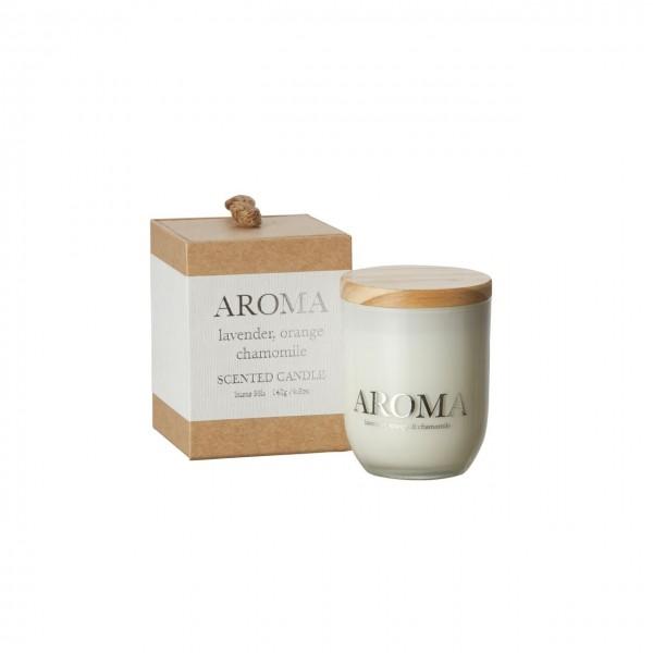 Kerze Aroma lavender, orange & camomile S