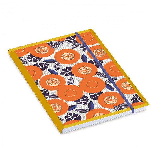 "Softcover Notebook ""Fleurs oranges"" liniert"